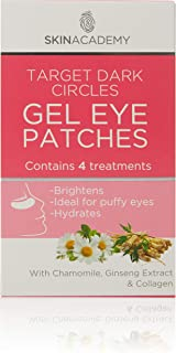 Skin Academy Gel Eye Patches, Target Dark Circles, 4 Pairs, 50g