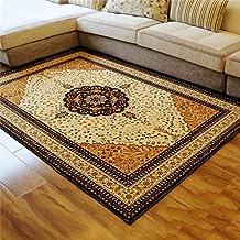 European Style Retro Living Room Carpet Sofa Coffee Table Carpet Bedroom Bedside Rug Bath Mat Washable Soft mat (Size : 80...