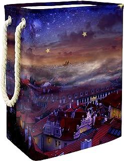 Vockgeng Noël Ciel étoilé Ville Accueil Organisation Panier de Rangement imperméable Pliable de Jouets de Jouets de Panier...