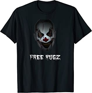 Evil Halloween: Scary Christmas Free Hugz, Scary Clown Shirt