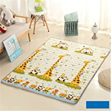 "Ustide Cute Giraffe Baby's Mat,Non-Slip Washable Children Crawling Mat,70.9""X78.7"""