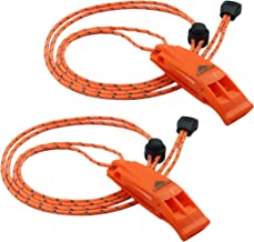 LuxoGear Emergency Whistles with Lanyard Safety Whistle Survival Shrill Loud Blast for Kayak Life Vest Jacket Boating Fish...