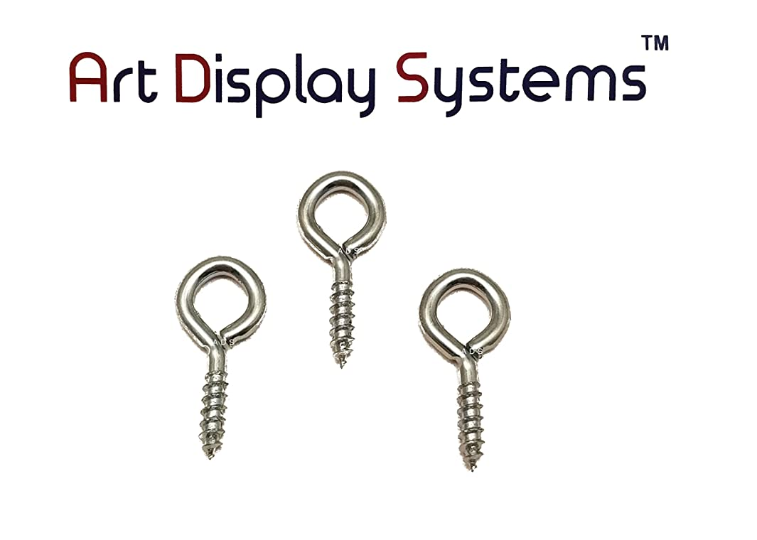 ADS 216 Long Shank ZP Screw Eye - 50 Pack by ART DISPLAY SYSTEMS