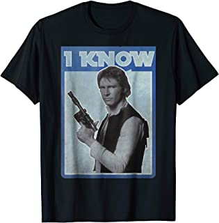 Han Solo Iconic Unscripted I KNOW Graphic T-Shirt