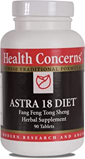 Health Concerns - Astra 18 Diet - Modified Fang Feng Tong Sheng San Chinese Herbal Supplement - Supports Weight Loss Programs - with Astragalus Root - 90 Tablets per Bottle