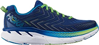 Hoka 1016723-TBJG: Clifton 4 True Blue Jasmine Green Mens Sneakers (7 D(M)