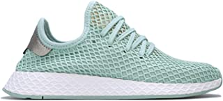 adidas Womens Originals Deerupt Runner Trainers Sneakers in ash Green.