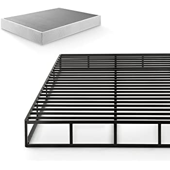 Zinus Victor 9 Inch Quick Lock Box Spring / Mattress Foundation / Built-to-Last Metal Structure / High Profile / Easy Assembly, Queen