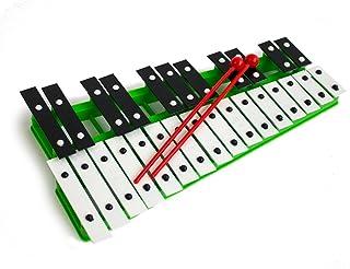 Cromático Glockenspiel Xilófono Verde 27 noté instrumento