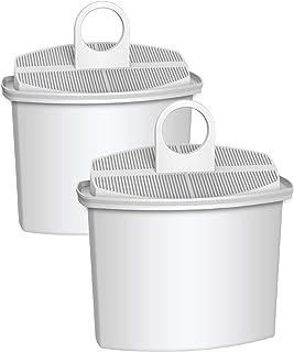 AQUA CREST TÜV SÜD Certified KWF2 Coffee Water Filter, Compatible with Braun Brita KWF2, 3105, 3107, 3112, 3116, KF600, KF580, KF510, KF190, KF180, KF157, KF150, KF145, KFT16 (Pack of 2)