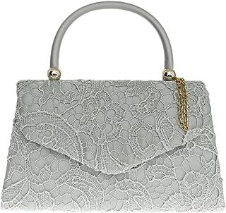 Girly Handbags Satén tapa del cordón de la manija del bolso de embrague