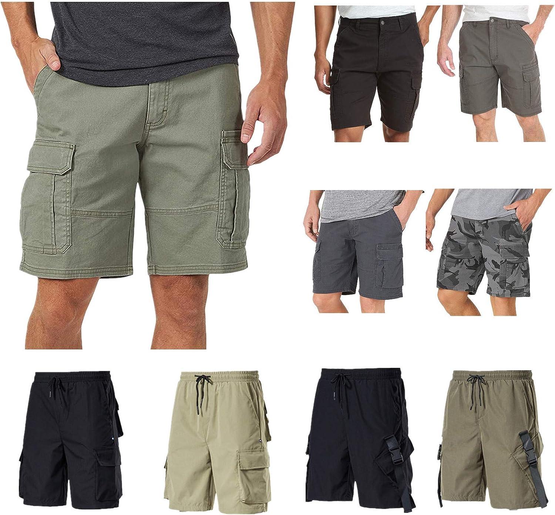 Gillberry Mens Shorts Casual Comfortable Slim-fit Lightweight Workout Drawstring Summer Beach Pockets Elastic Waist