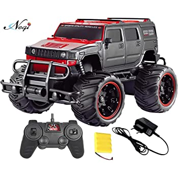 Negi Rechargeable Remote Control Off-Road Monster Truck Car with 4.8v Battery and Charger(Included)_Scale 1:20 (Monster Truck Car)