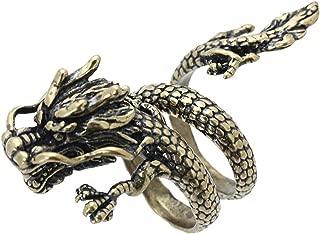 Dragon Drachen Edelstahl Herren Damen Stahl Ring Drache Asia Geschenkidee neu