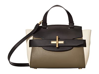 ZAC Zac Posen Brigette Belted Satchel Color Block (Black) Handbags