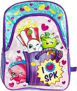 حقيبة ظهر مدرسية كبيرة مقاس 16 بوصة مطبوع عليها I Love SPK من Shopkins (مقاس واحد، أزرق/وردي)