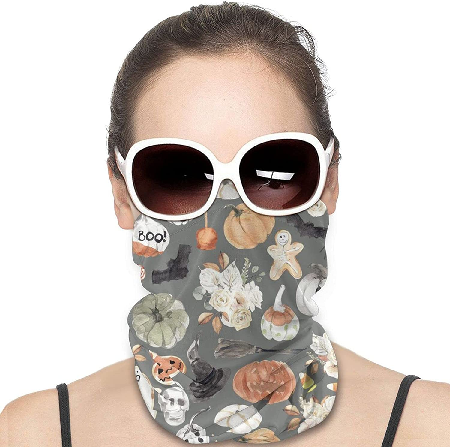 Spooky Halloween Round Neck Gaiter Bandnas Face Cover Uv Protection Prevent bask in Ice Scarf Headbands Perfect for Motorcycle Cycling Running Festival Raves Outdoors