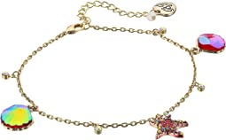 Betsey Johnson Starfish and Seashell Anklet