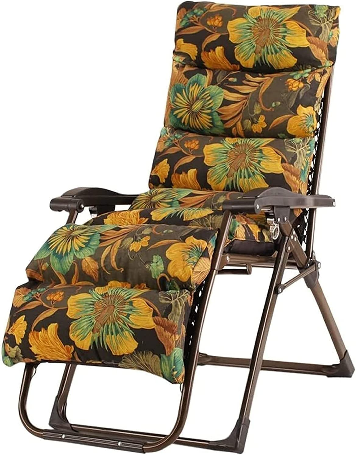 ZHZHUANG Flowers Home Recliner Max 45% OFF Folding Office Boston Mall Lunch Break Chair
