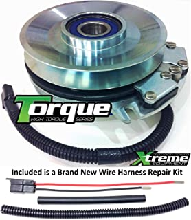 Xtreme Outdoor Power Equipment Bundle - 2 Items: PTO Electric Blade Clutch, Wire Harness Repair Kit. X0325 Replaces Warner 5218-91 Upgrade PTO Clutch John Deere - w/Wire Repair Kit !