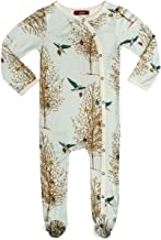 Milkbarn Bamboo Footed Romper (Christmas Fox, 6-9 Months)