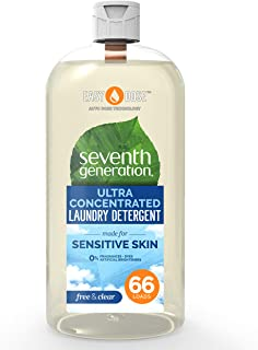 Seventh Generation Laundry Detergent Ultra Concentrated EasyDose, Free & Clear, 66 Loads, 1 Pack