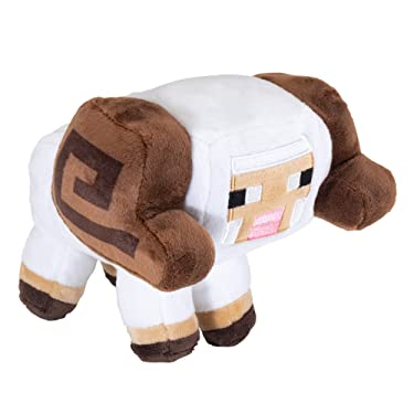 "JINX Minecraft Earth Happy Explorer Horned Sheep Plush Stuffed Toy, Multi-Colored, 5.5"" Tall"