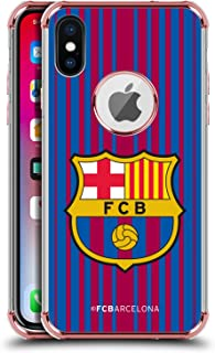 Official FC Barcelona Home 2017/18 Crest Kit Rose Shockproof Fender Case Compatible for iPhone X/iPhone Xs