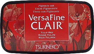Tsukineko VF-CLA-702 Tulipe Versafine Clair d'encrage, matière synthétique, Rouge, 5.6 x 9.7 x 2.3 cm, Matériau, Red, 5,6 ...