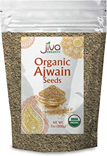 Jiva Organics Organic Ajwain Seeds 7 ounce Bag - Whole Carom Seed, Ajamo, 100% Natural & Non-GMO