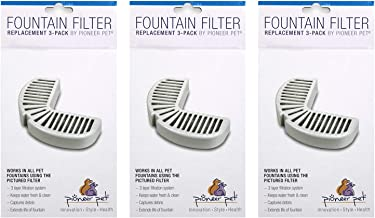 Pioneer Pets Big Max Raindrop Fountain Filters Combo Pack (9 Filters)