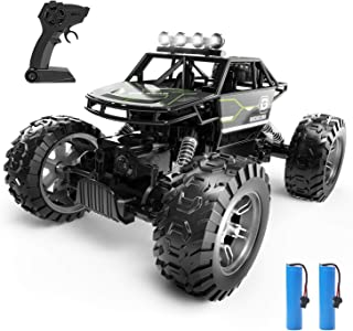 Holyton RC Cars, 4WD Remote Control Car, 1:16 Scale Off Road Monster Trucks 30+ MPH Speed 2.4GHz All Terrain, 2 Rechargeable Batteries Toy Crawlers Vehicles for Boys and Adults, 40+ Min Play, Gray