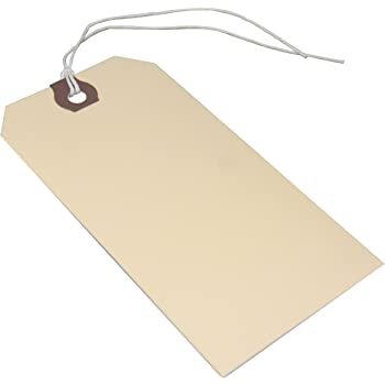 """50 AVERY DENNISON MANILLA BLANK SHIPPING TAGS #5 TRADE SIZE 4 3//4/"""" BY 2 3//8/"""""""