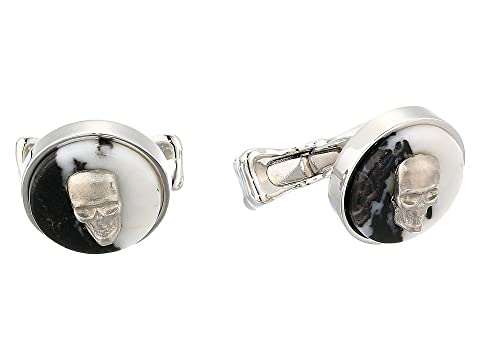 Alexander McQueen Skull on Stone Cuff Links