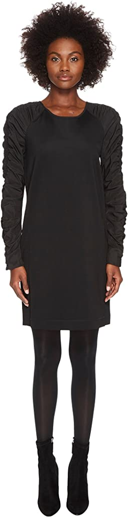 Sportmax Gap Long Sleeve Jersey Nylon Sleeves Dress