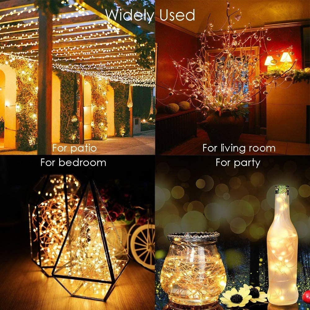 TYND LED Outdoor Solar Lampe LEDs Lichterketten Fairy Holiday Weihnachtsfeier Girlande Solar Garten wasserdichte Lichter E