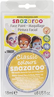 Reeves Snazaroo Face Paint, 18ml, Bright Yellow