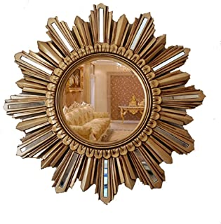 Qing MEI American Country Sun Wall Mirror Wall Decoration Mirror European Retro Porch Living Room Wall Decoration Hanging Mirror Size: 55.5cm (Color : C)