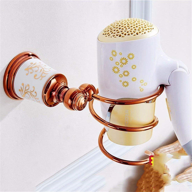 Accessories for Bathroom Pink European Copper gold Ceramic Accessories of Bathroom Set,Blower Frame