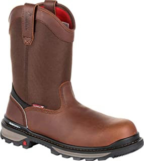 Rocky Rams Horn Waterproof Composite Toe Pull-On Work Boot Size