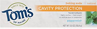 Tom's of Maine Cavity Protection Anticavity Baking Soda Peppermint Toothpaste, 5.5 oz, 6 Count