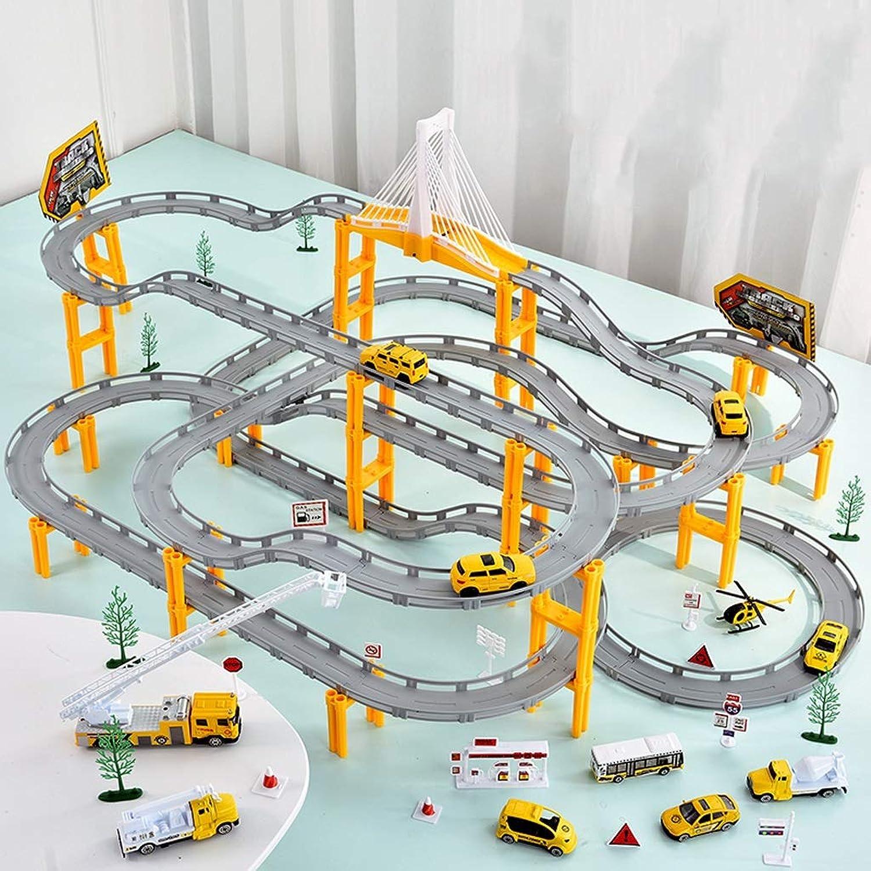 LINGLING-Verfolgen Track Toys Züge Landebahnen Rennwagen Kinderspielzeug Jungen Geschenke - Technik Anzüge (gre   S)