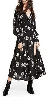 So Sweetly Floral Print Faux Wrap Midi Dress