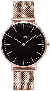 Cluse Women's La Boheme Mesh 38mm Steel Bracelet Metal Case Quartz Analog Watches Collection