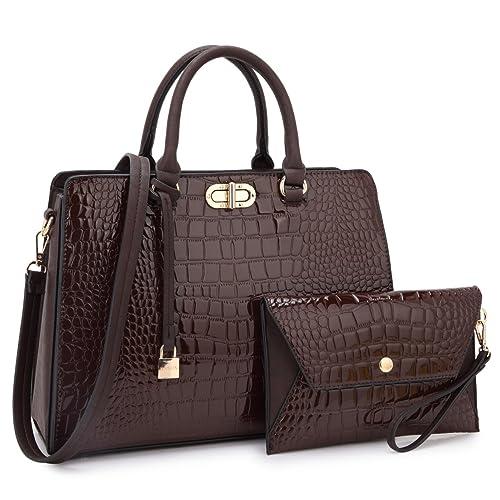 4375ce3ae0 Women s Fashion Handbags Tote Purses Shoulder Bags Top Handle Satchel Purse  Set 2pcs