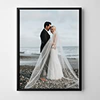 P & L Art Personalized Canvas Photo Print with Floating Frame