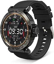 Smartwatch, BlitzWolf Reloj Inteligente IP68 Impermeable HD Pantalla Táctil Completa de 1.3 Pulgadas, Pulsera Actividad con Pulsómetro, Podómetro, Monitor de Sueño, Reloj Deportivo Hombre Mujer(Negro)
