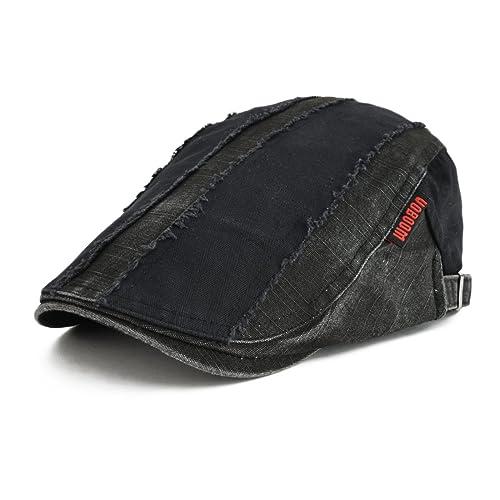VOBOOM 100% Cotton Distressed Ivy Caps Newsboy Caps Cabbie Hat Gatsby Hat 66a8bb965dd