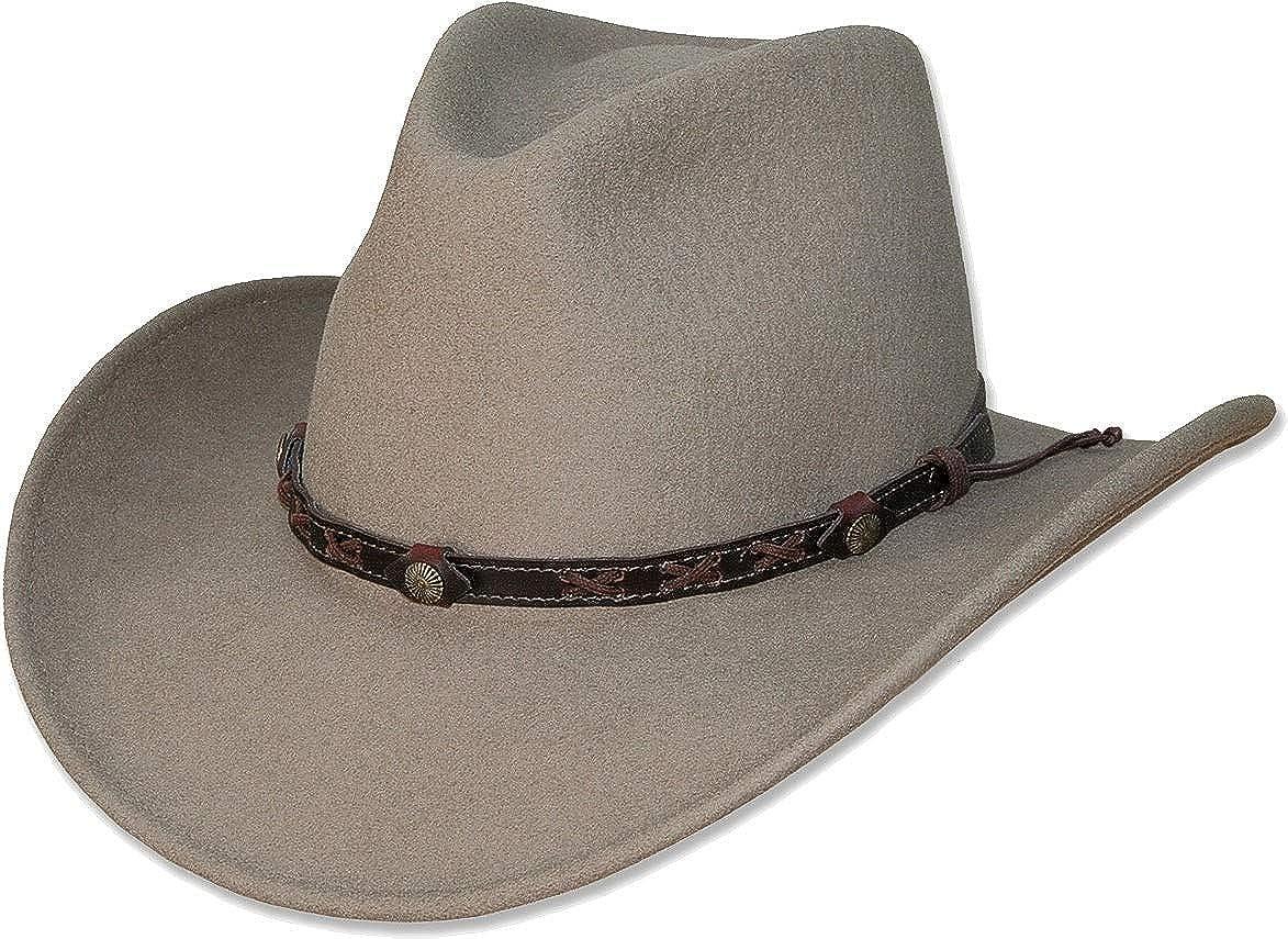 Cowboyhut Sally schwarz Gr/ö/ße 1 S Stars /& Stripes Westernhut