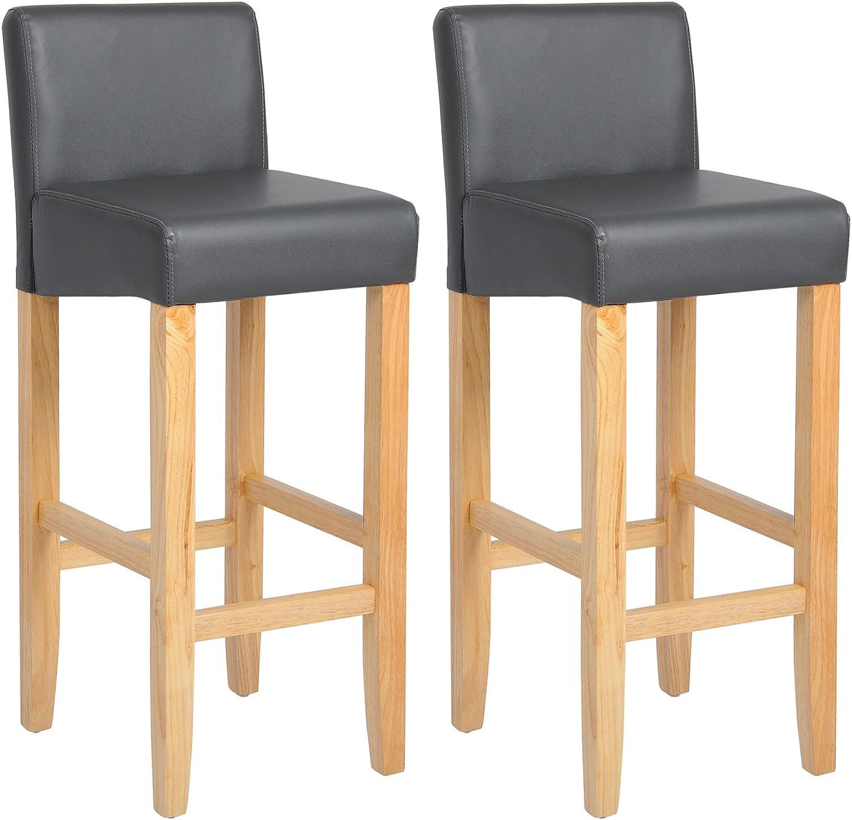 WOLTU Breakfast Kitchen Counter Chairs Bar Stools Set 2 Wood